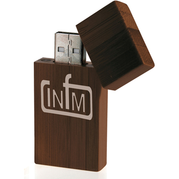 1 GB Bamboo Rectangle USB 2.0 Flash Drive